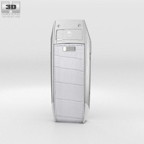 TAG Heuer Meridiist Stainless Steel White Alligator 3d model