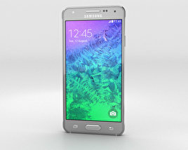 3D model of Samsung Galaxy Alpha Sleek Silver