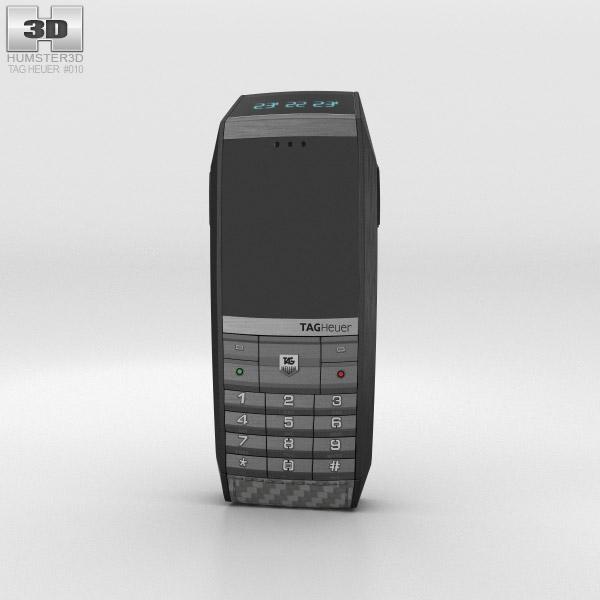 TAG Heuer Meridiist GMT PVD Black 3D Carbon Leather 3D model