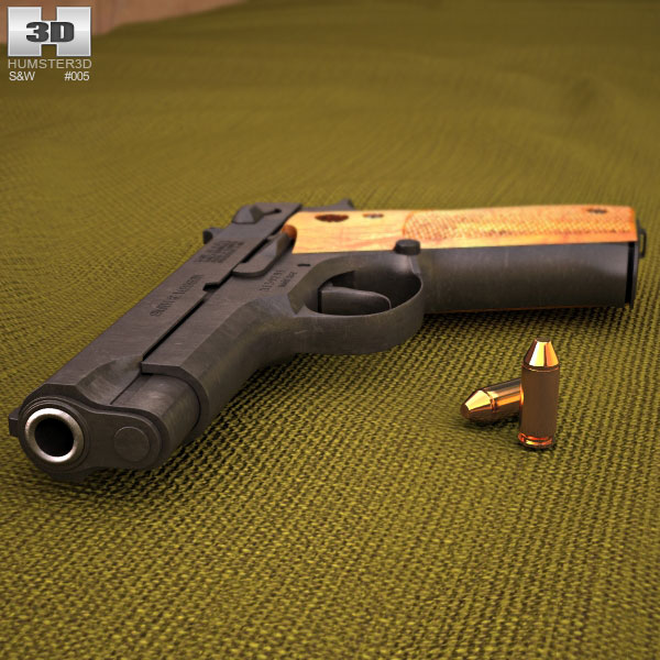 Smith & Wesson Model 39 3d model