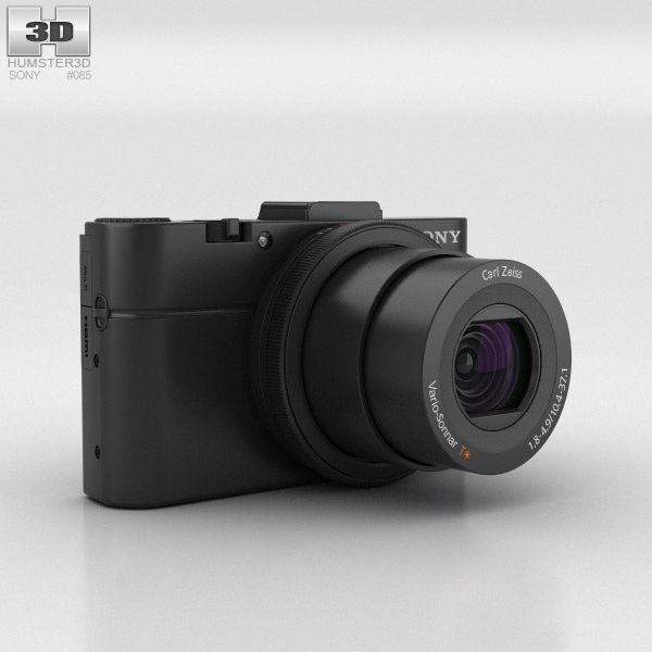 3D model of Sony Cyber-shot DSC-RX100 II