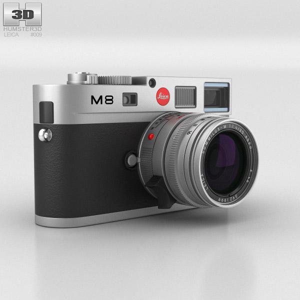 Leica M8 Silver 3D model