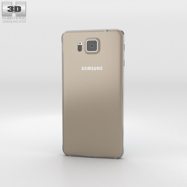 Samsung Galaxy Alpha Frosted Gold 3d model