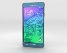 3D model of Samsung Galaxy Alpha Scuba Blue
