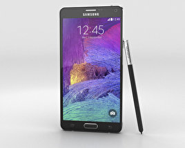 3D model of Samsung Galaxy Note 4 Charcoal Black