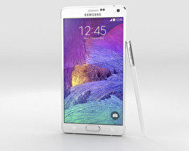 3D model of Samsung Galaxy Note 4 Frosted White