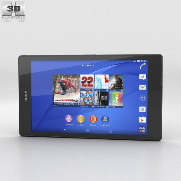 Sony Xperia Z3 Tablet Compact Black 3D model