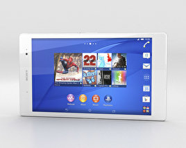 3D model of Sony Xperia Z3 Tablet Compact White