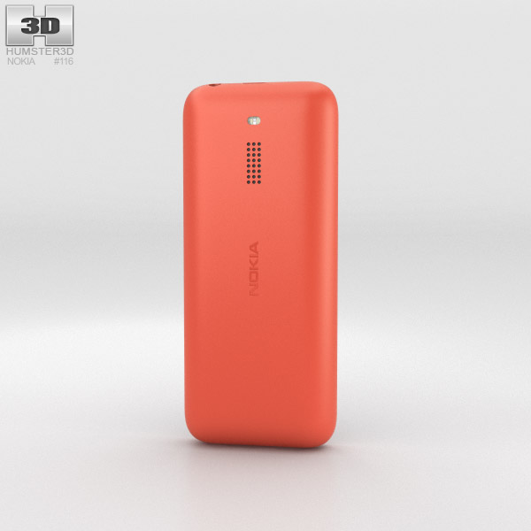 Nokia 130 Red 3d model