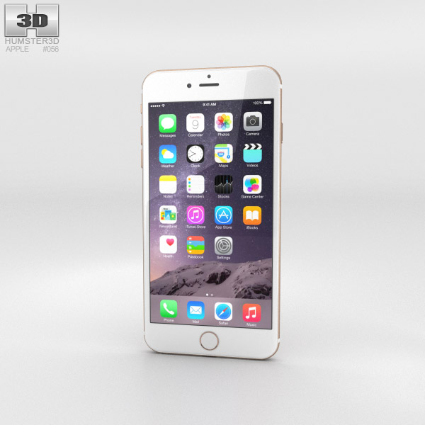 Apple iPhone 6 Plus Gold 3D-Modell