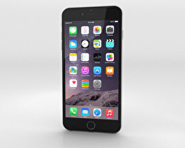 3D model of Apple iPhone 6 Plus Silver