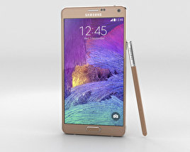 3D model of Samsung Galaxy Note 4 Bronze Gold