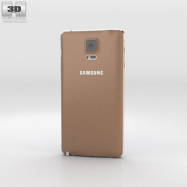 Samsung Galaxy Note 4 Bronze Gold 3d model