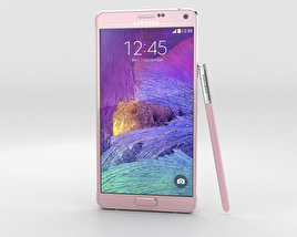 3D model of Samsung Galaxy Note 4 Blossom Pink