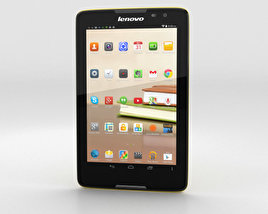 3D model of Lenovo Tab A8 Yellow