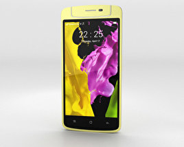 3D model of Oppo N1 mini Yellow