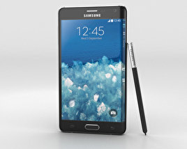 3D model of Samsung Galaxy Note Edge Charcoal Black