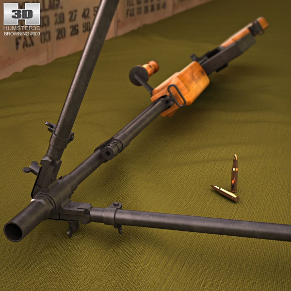 Browning M1918 Automatic Rifle 3d model