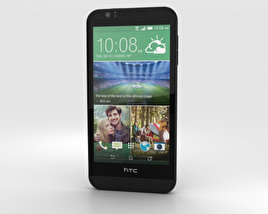 3D model of HTC Desire 510 Jet Black