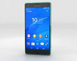 3D model of Sony Xperia Z3 Compact Green