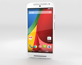 3D model of Motorola Moto G (2nd Gen) White