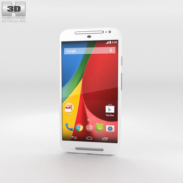 Motorola Moto G (2nd Gen) White 3d model