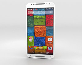 3D model of Motorola Moto X (2nd Gen) White Bamboo