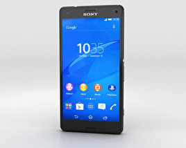 3D model of Sony Xperia Z3 Compact Black