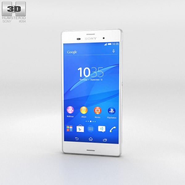 Sony Xperia Z3 White 3d model