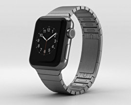 Apple Watch 38mm Black Stainless Steel Case Link Bracelet 3D model