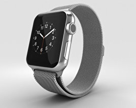 3D model of Apple Watch 38mm Stainless Steel Case Milanese Loop