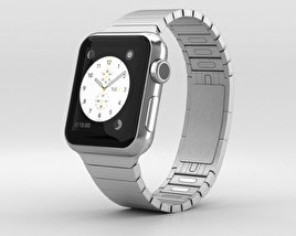 Apple Watch 38mm Stainless Steel Case Link Bracelet 3D model