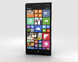 3D model of Nokia Lumia 830 Black