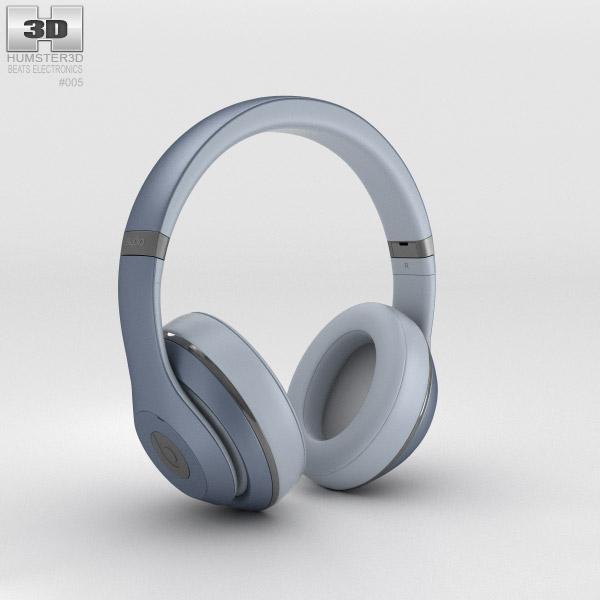 Beats by Dr. Dre Studio Over-Ear Headphones Metallic Sky 3d model