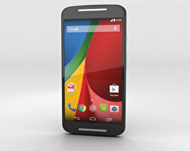 3D model of Motorola Moto G (2nd Gen) Black
