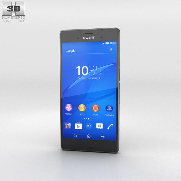 Sony Xperia Z3 Black 3d model