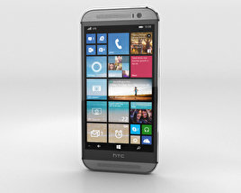 3D model of HTC One (M8) Windows Phone Gunmetal Gray