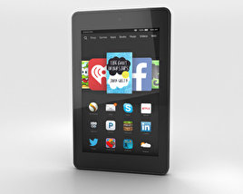 3D model of Amazon Fire HD 6 Black