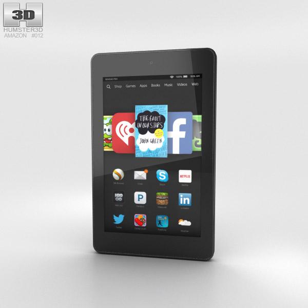 Amazon Fire HD 6 Black 3d model
