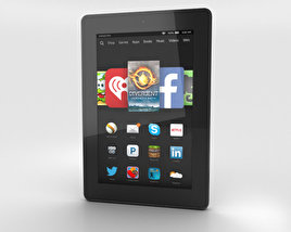 3D model of Amazon Fire HD 7 Black
