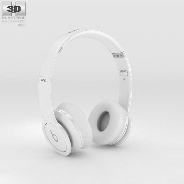 Beats by Dr. Dre Solo HD Matte White 3d model