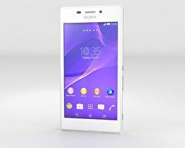 3D model of Sony Xperia M2 Aqua White