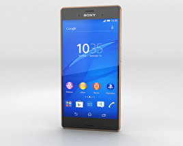 3D model of Sony Xperia Z3 Copper