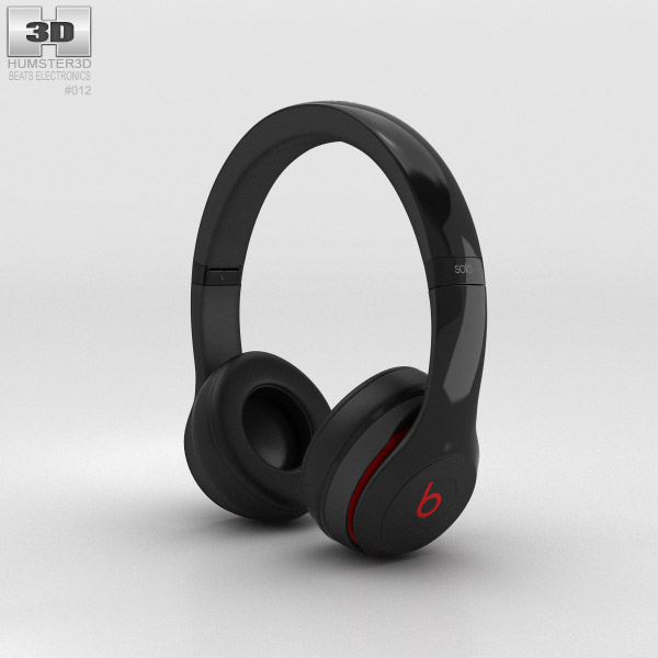 Beats by Dr. Dre Solo2 On-Ear Headphones Black 3d model