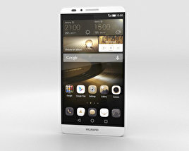 3D model of Huawei Ascend Mate 7 Moonlight Silver