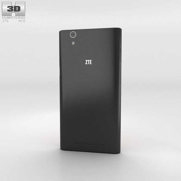 ZTE Zmax Preto Modelo 3d