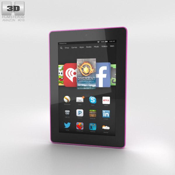 Amazon Fire HD 7 Magenta 3D model