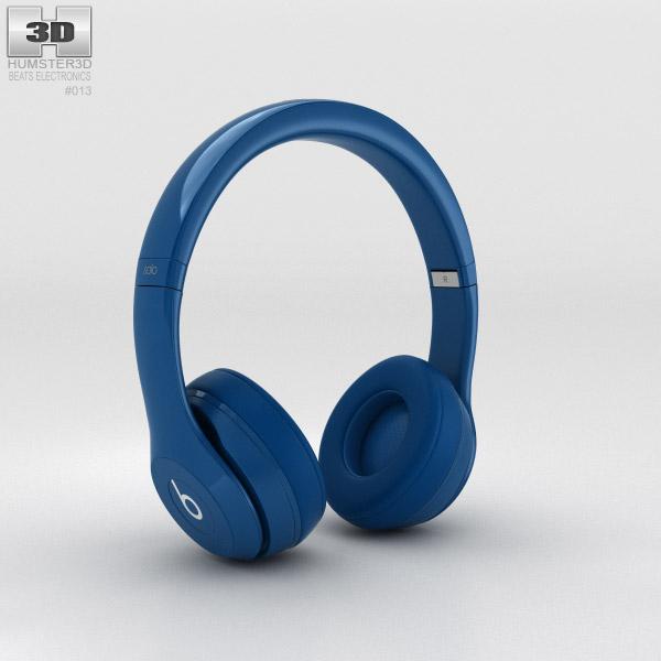 Beats by Dr. Dre Solo2 On-Ear Headphones Blue 3d model
