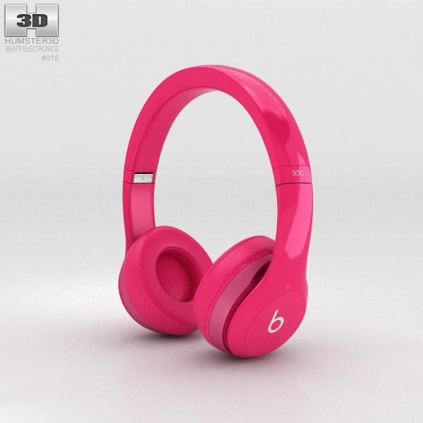 Beats by Dr. Dre Solo2 On-Ear Headphones Pink 3D model