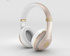 3D model of Beats by Dr. Dre Studio Over-Ear Headphones Champagne